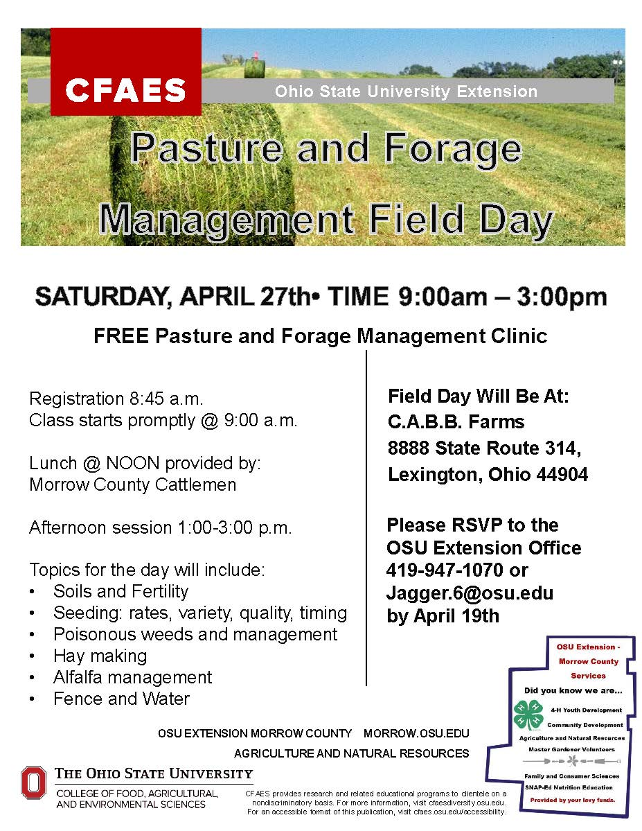 Pasture and Forage Mgt. Field day